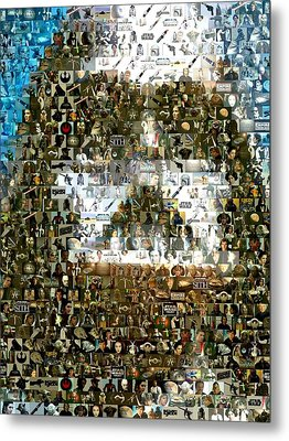 Darth Vader Mosaic Metal Print by Paul Van Scott