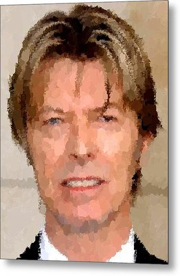 David Bowie Portrait Metal Print by Samuel Majcen