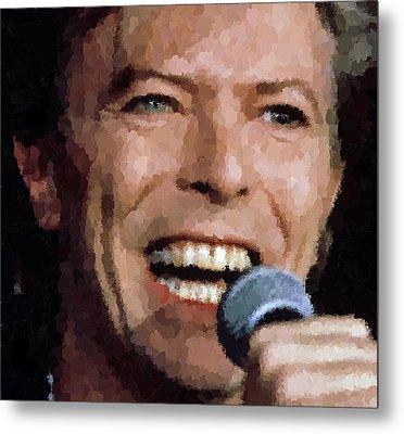 David Bowie Metal Print by Samuel Majcen