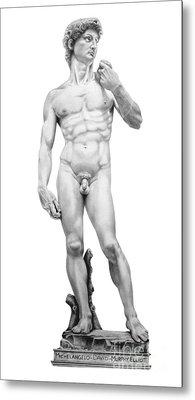 David-michelangelo Metal Print by Murphy Elliott