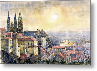 Dawn Of Prague Metal Print by Yuriy  Shevchuk