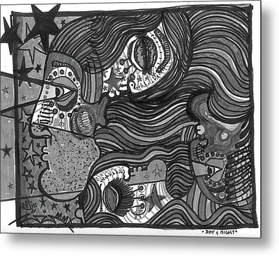 Day And Night Desaturated Metal Print by Robert Wolverton Jr