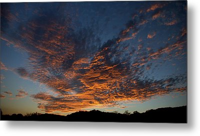 Day's Glorious Ending Metal Print by Karen Musick