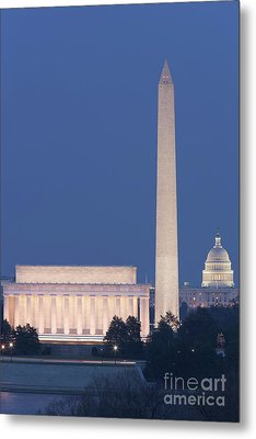 Dc Landmarks At Twilight Metal Print by Clarence Holmes