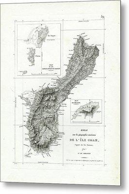 De L Ile Gwam Guam Metal Print by Freycinet  DuPerry