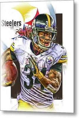 Deangelo Williams Pittsburgh Steelers Oil Art Metal Print by Joe Hamilton