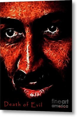 Death Of Evil . Death Of Osama Bin Ladin . May 1 . 2011 Metal Print by Wingsdomain Art and Photography