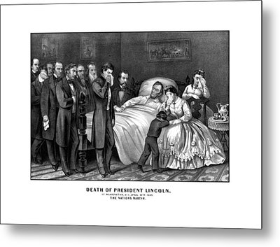 Death Of President Lincoln Metal Print by War Is Hell Store
