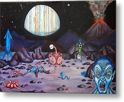 Death On Io Metal Print by Chris Benice