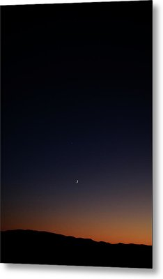 Death Valley - Last Light On The Desert Metal Print by Christine Till