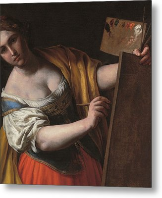 Deatil Of An Allegory Of Painting Metal Print by Alessandro Turchi