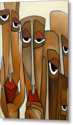 Decision Makers - Abstract Pop Art By Fidostudio Metal Print by Tom Fedro - Fidostudio