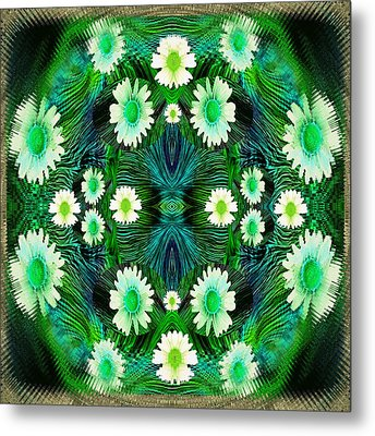 Decorative Abstract Meadow Metal Print by Pepita Selles