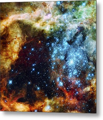 Deep Space Fire And Ice 2 Metal Print by The  Vault - Jennifer Rondinelli Reilly