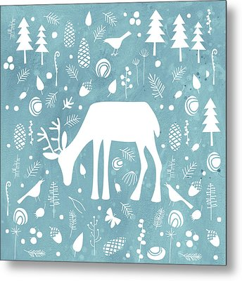 Deer In The Woods Metal Print by Nic Squirrell
