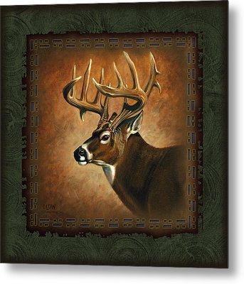 Deer Lodge Metal Print by JQ Licensing