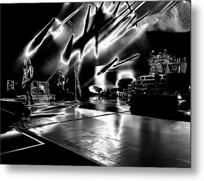 Def Leppard At Saratoga Springs 5 Metal Print by David Patterson