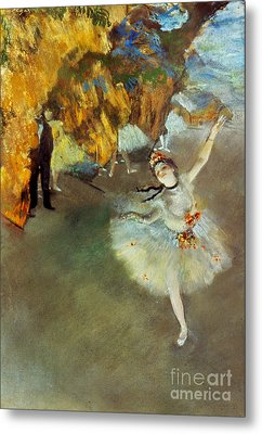 Degas: Star, 1876-77 Metal Print by Granger