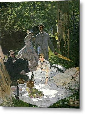 Dejeuner Sur Lherbe Metal Print by Claude Monet