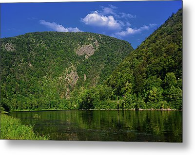 Delaware Water Gap From New Jersey Metal Print by Raymond Salani III