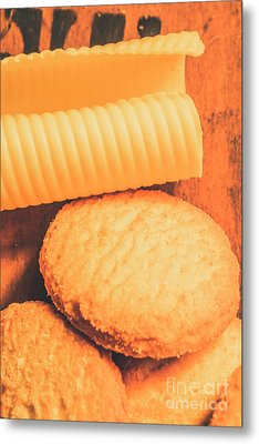 Delicious Cookies With Piece Of Butter Metal Print by Jorgo Photography - Wall Art Gallery