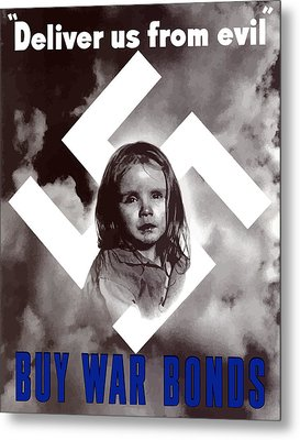 Deliver Us From Evil Metal Print by War Is Hell Store