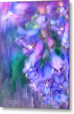 Delphinium Abstract Metal Print by Carol Cavalaris
