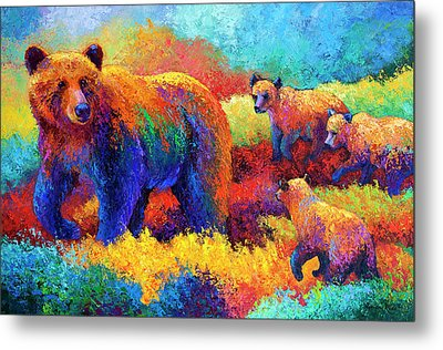 Denali Family Metal Print by Marion Rose