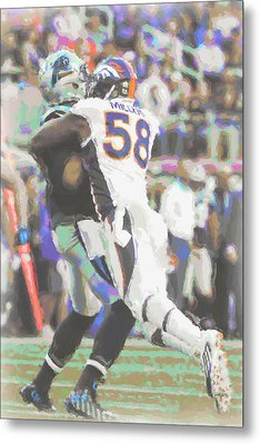Denver Broncos Von Miller Metal Print by Joe Hamilton