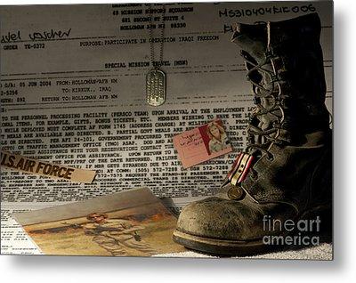 Deployment Metal Print by Melany Sarafis