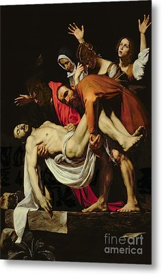Deposition Metal Print by Michelangelo Merisi da Caravaggio