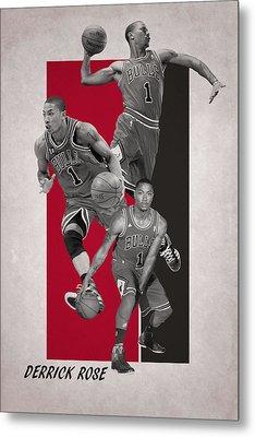Derrick Rose Chicago Bulls Metal Print by Joe Hamilton