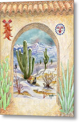 Desert Christmas Metal Print by Marilyn Smith