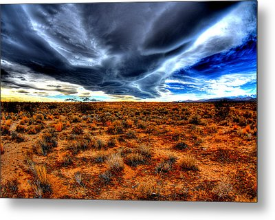 Desert Clouds Metal Print by Tom Melo