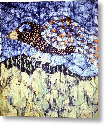Desert Crow Metal Print by Carol Law Conklin