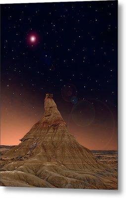Desert Night Metal Print by Inigo Cia