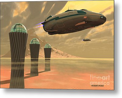 Desert Planet Metal Print by Corey Ford