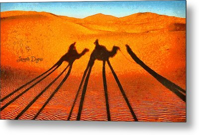 Desert Shadow Metal Print by Leonardo Digenio