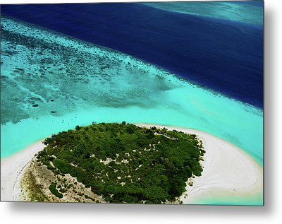 Deserted Coral Island. Maldives  Metal Print by Jenny Rainbow