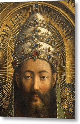 Detail Of God The Father Metal Print by Van Eyck