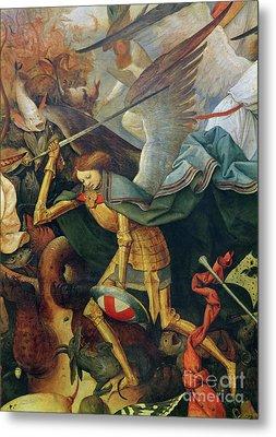 Detail Of The Fall Of The Rebel Angels, 1562 Metal Print by Pieter the elder Bruegel