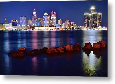 Detroit Alive And Well Metal Print by Frozen in Time Fine Art Photography