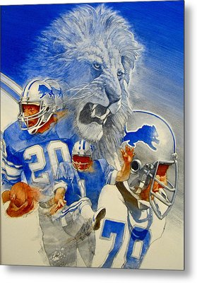 Detroit Lions Game Day Cover Metal Print by Cliff Spohn