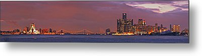 Detroit Skyline Metal Print by Michael Peychich