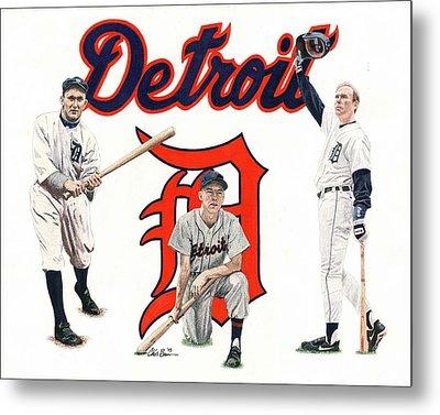 Detroit Tigers Legends Metal Print by Chris Brown