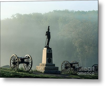 Devil's Den Monument At Gettysburg Metal Print by John Greim