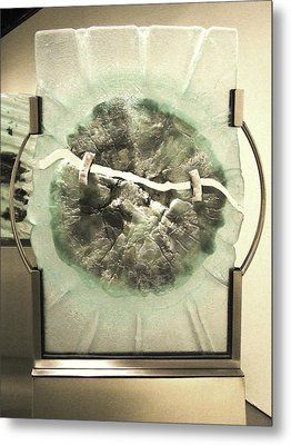Devitrification Metal Print by Sarah King