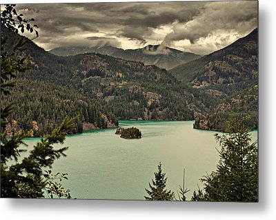 Diablo Lake - Le Grand Seigneur Of North Cascades National Park Wa Usa Metal Print by Christine Till