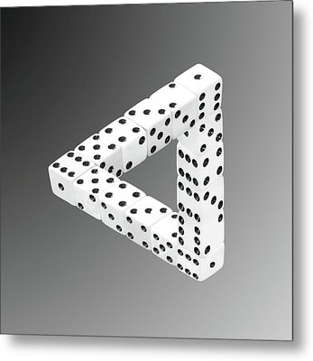 Dice Illusion Metal Print by Shane Bechler