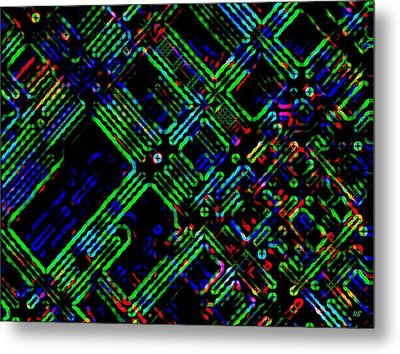 Diffusion Component Metal Print by Will Borden
